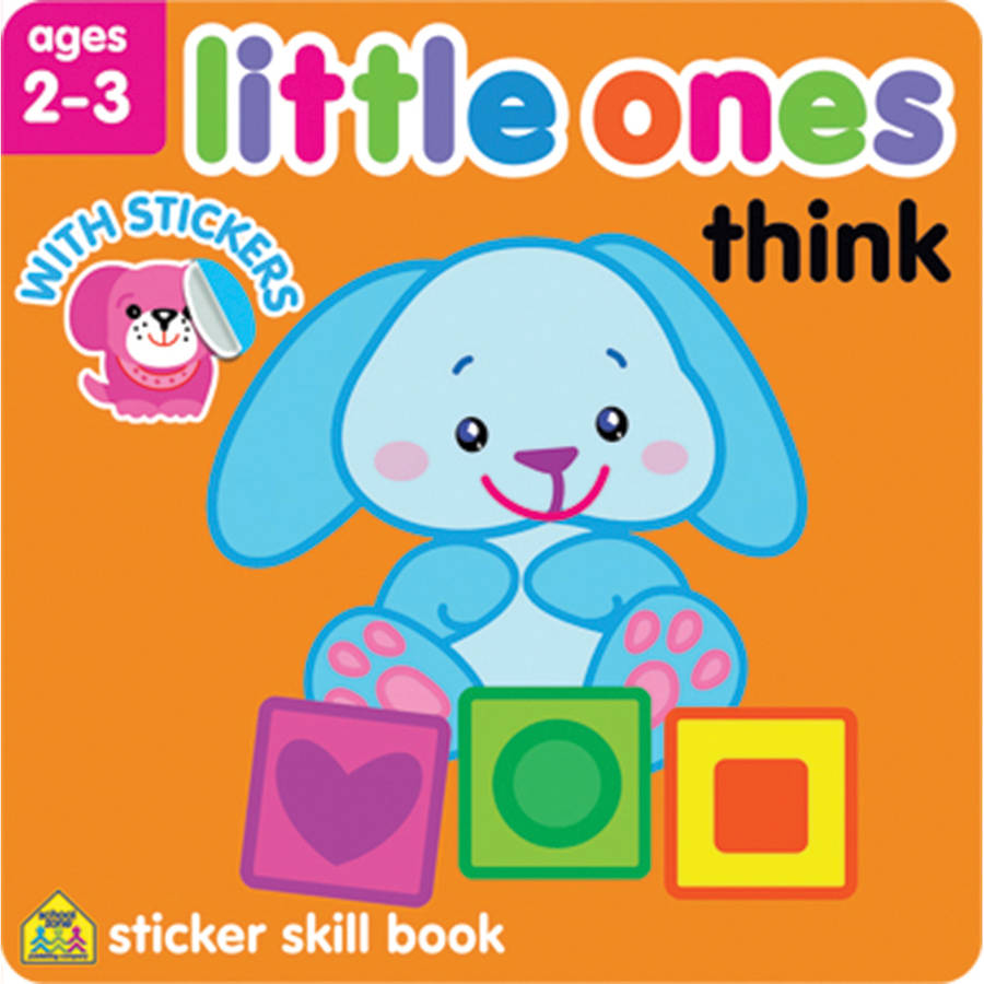 Little Ones Sticker Skill Book, Think