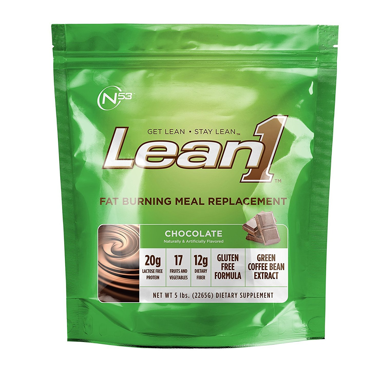 Nutrition53 Lean1 Chocolate - 5 lbs (2265 g)