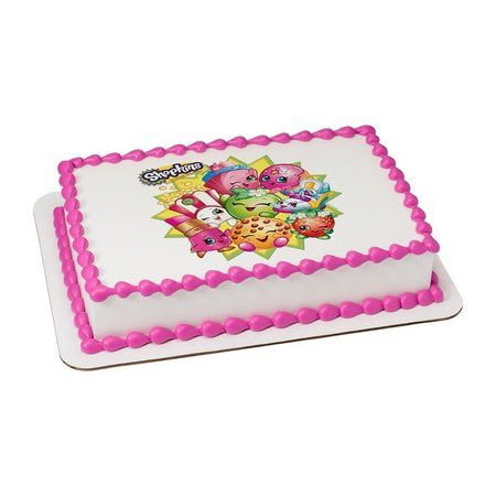Shopkins Edible Icing Image Cake Topper Decoration for 1/4 Sheet Cake - Icing For Decoration