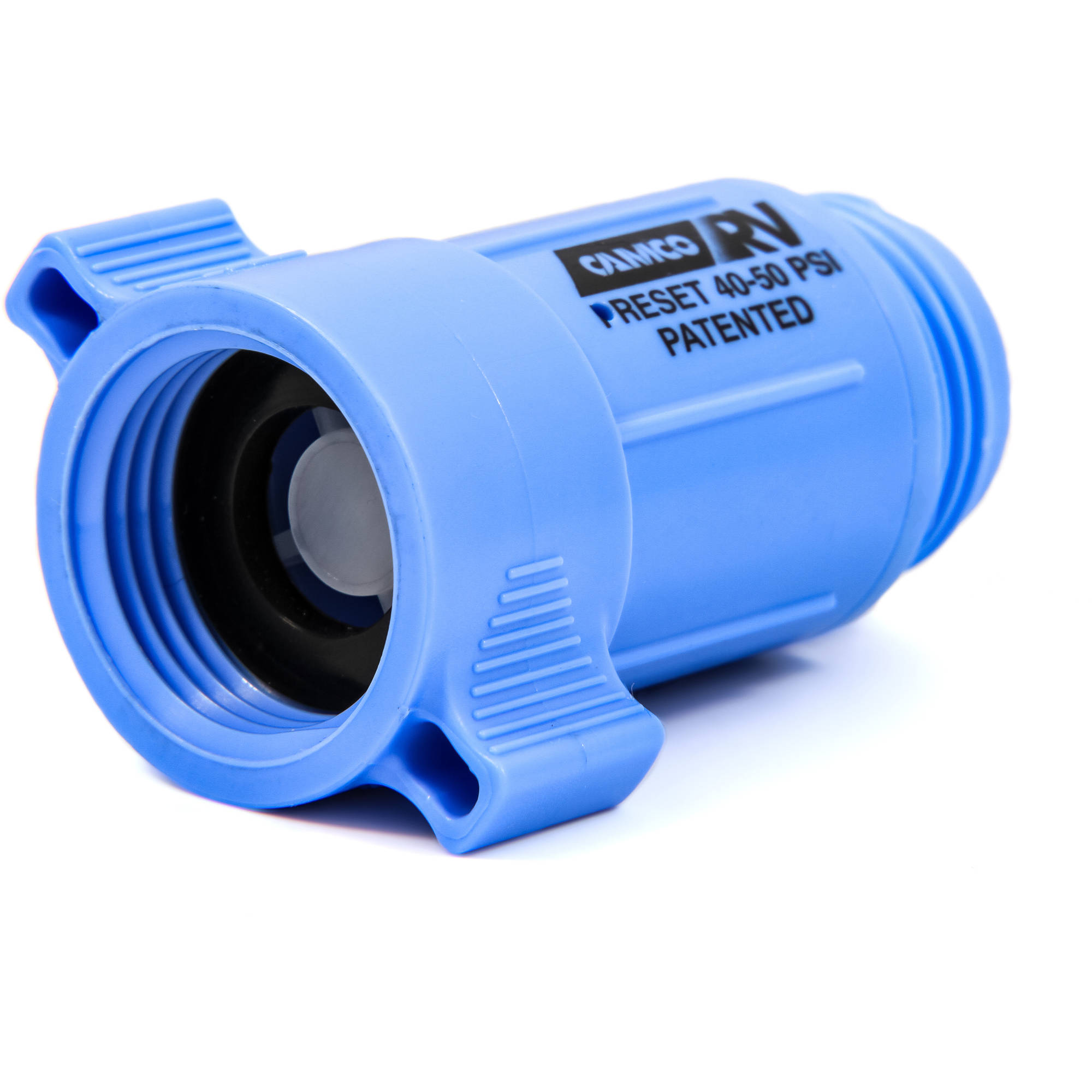 Camco Plastic Water Pressure Regulator - Prevents Damage To RV Water Hoses and Pumps From Inconsistent Water Pressure, Lead Free - (40143)