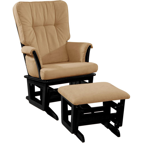 Dream on Me Windsor Glider and Matching Ottoman, Black