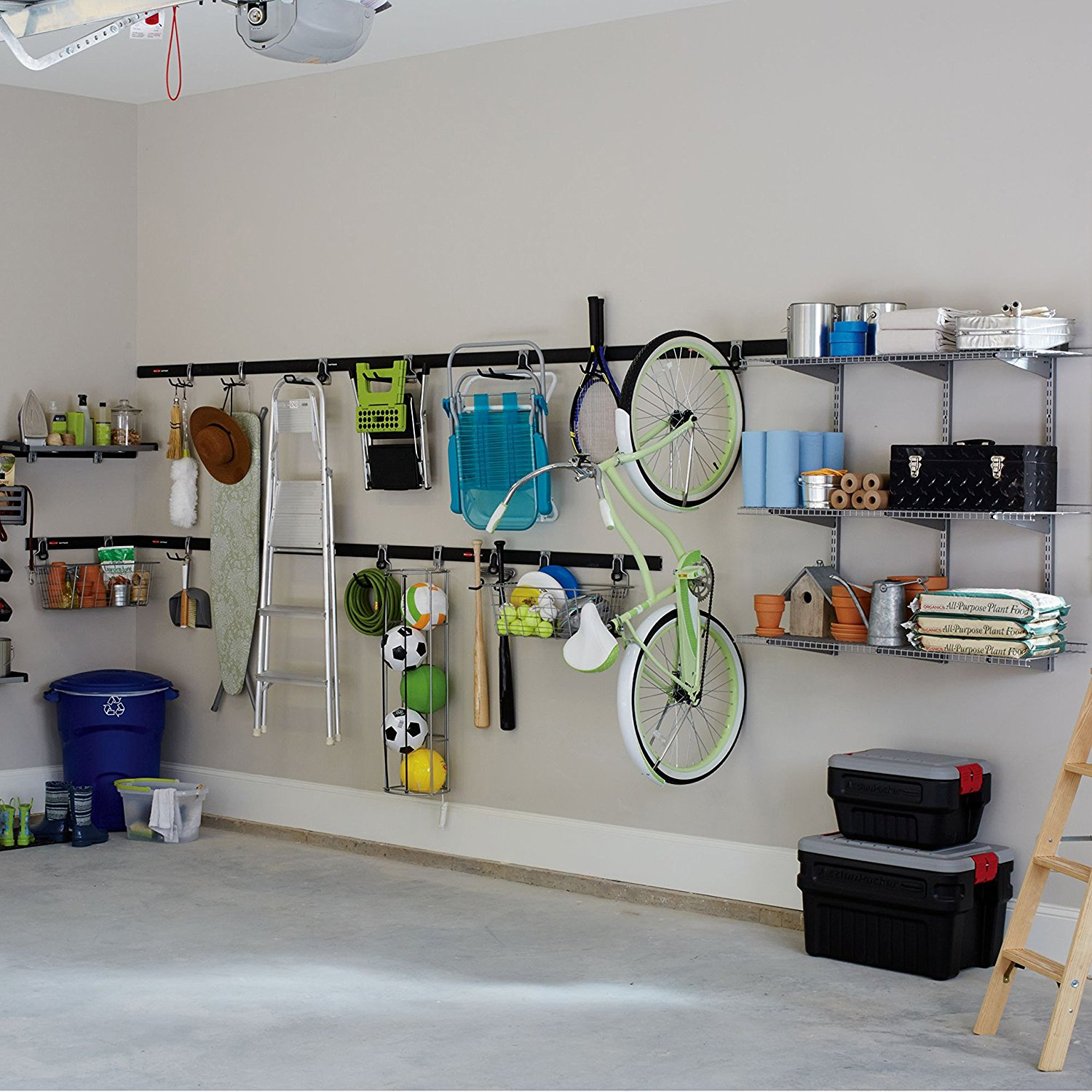 FastTrack Garage Storage System Compact Hanging Hook, 1784455 By Rubbermaid    Walmart.com
