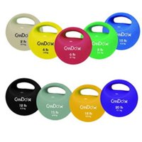Fabrication Enterprises 10-3292 Cando One-Handle Medicine Ball, Red - 6 lbs