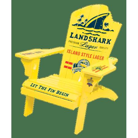 Stylish Solid Wood - Margaritaville Landshark Solid Wood Adirondack Chair