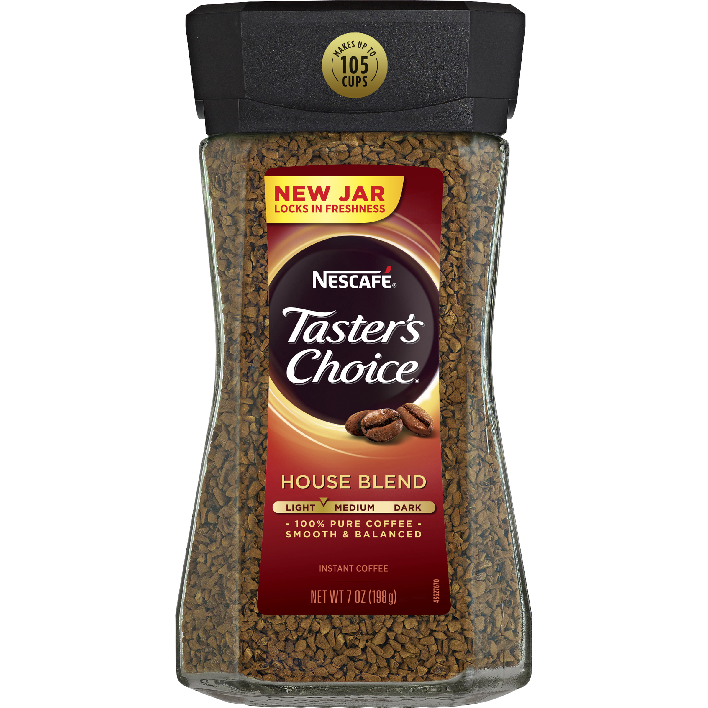 NESCAFE TASTER'S CHOICE House Blend Instant Coffee 7 oz. Jar