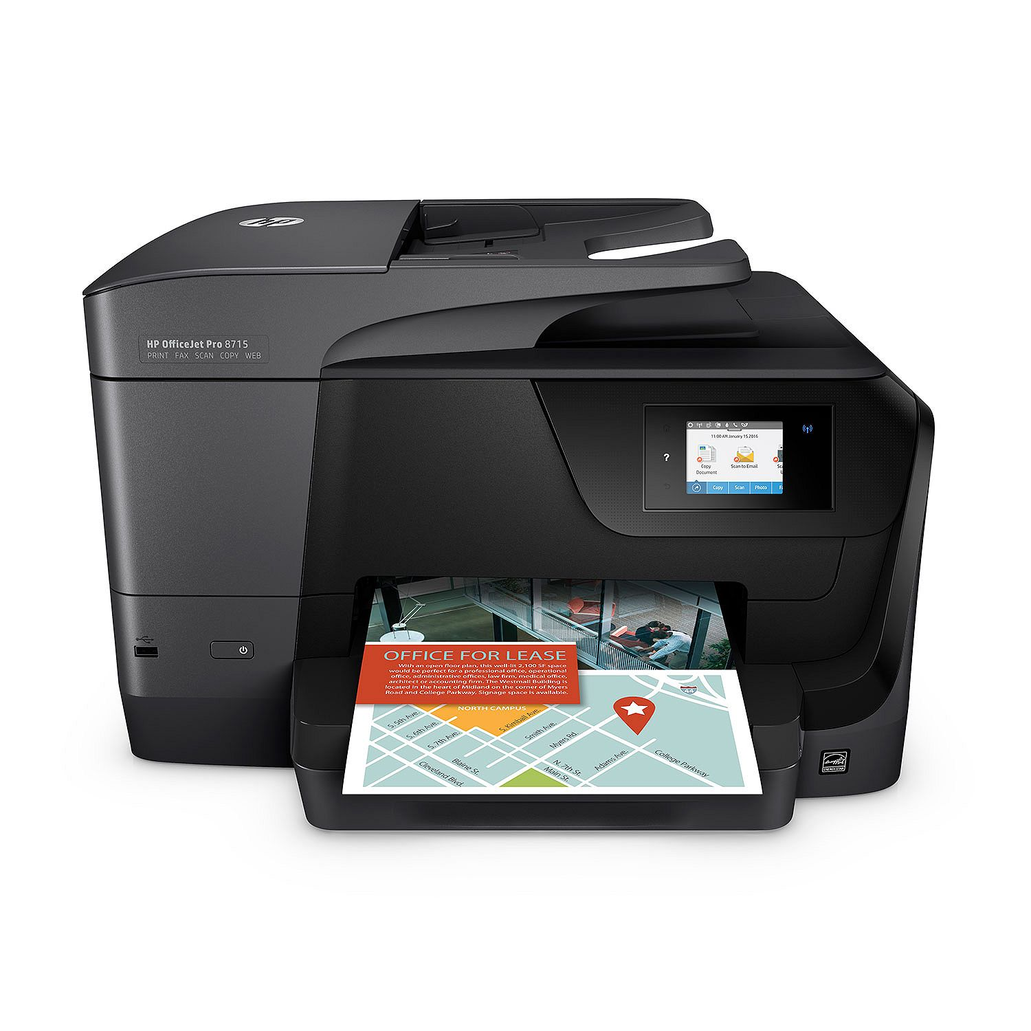 HP OfficeJet Pro 8715 All-in-One Printer (Certified Refurbished) by HP