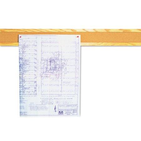 Quartet Cork Bulletin Board Border, Natural Cork, 48 x 5, Oak Frame -QRT300B