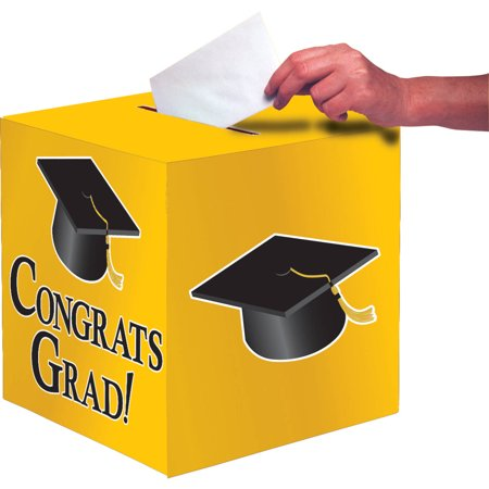 Yellow Congrats Grad Card Box
