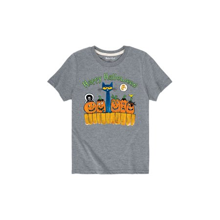 Pete The Cat Happy Halloween Glow  - Toddler Short Sleeve Tee - Short Halloween Poems For Toddlers