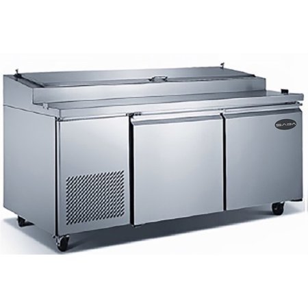 "Heavy Duty Commercial 70"" (2 Door) Pizza Prep Table Refrigerator"