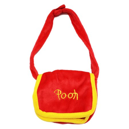 Disney's Winnie the Pooh Miniature Plush Red and Yellow Knapsack