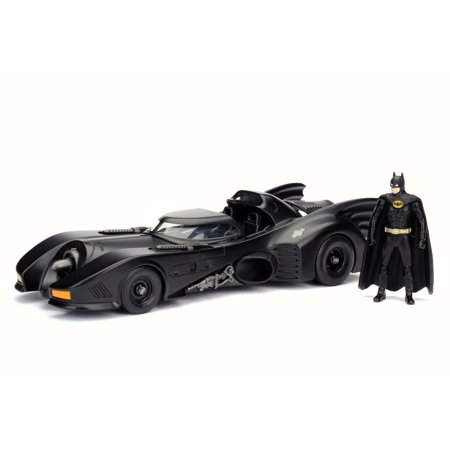 1989 Batmobile w/ Batman Figure, Black - Jada 98260 - 1/24 Scale Diecast Model Toy