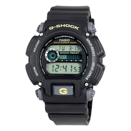 G-shock Stopwatch - Casio DW9052-1B G-shock 200-meter Water-resistant El-backlit With Afterglow