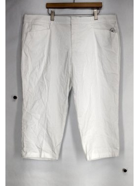 2dd115a889b Product Image JM Collection Plus Size Pants 24W Twill Straight Leg White  Womens
