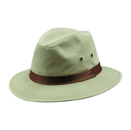 DPC Outdoor Design Men's Safari W/Leather Hat KHAKI L
