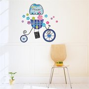 HL-943 Flower & Bike - Wall Decals Stickers Appliques Home Decor