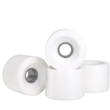 Cal 7 Polyurethane Skateboard Wheels for Street and Park 60x44mm 83A (Solid White) (Welcome Skateboards Wheels)