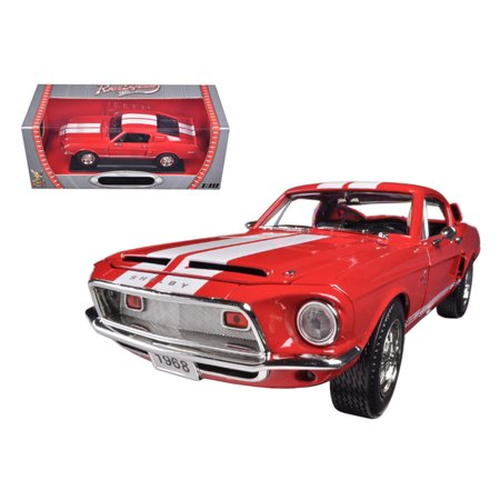 - 1968 Ford Shelby Mustang GT500KR Red 1/18 Diecast Car Model by Road Signature