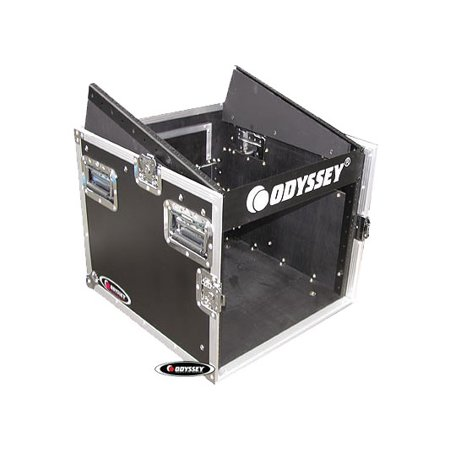 Odyssey Cases FZ1008 Ata Combo DJ Rack Case With 10U Slant & 8U Vertical Spaces ()