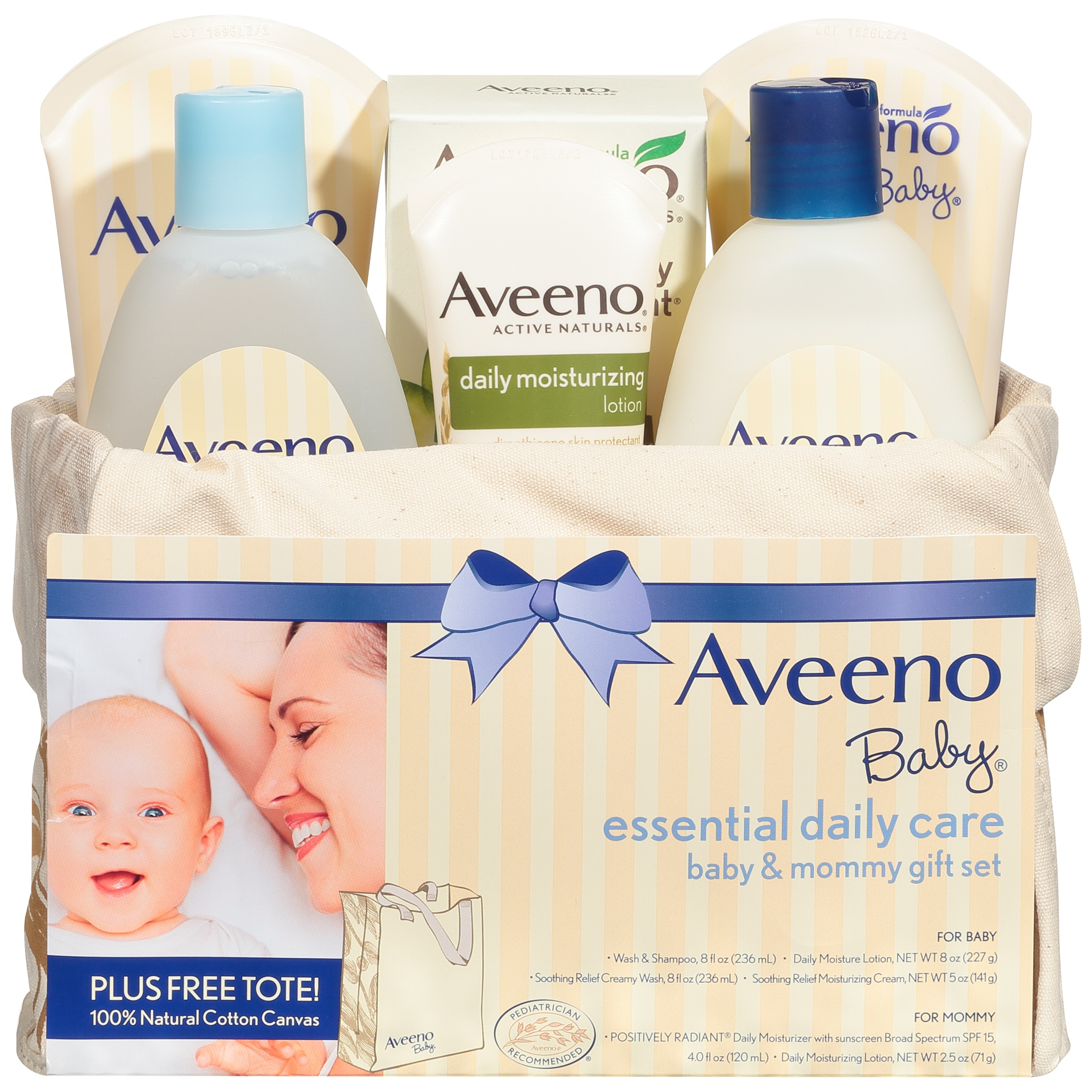 Aveeno Baby Mommy & Me Gift Set, Baby Skin Care Products - Walmart.com