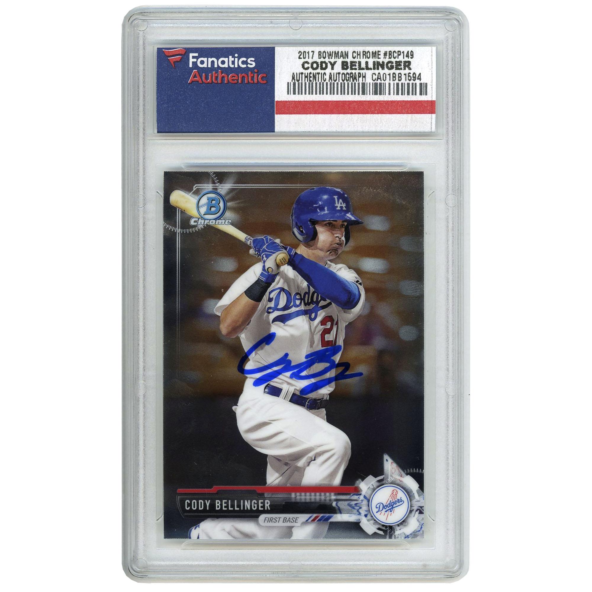 Cody Bellinger Los Angeles Dodgers Fanatics Authentic Autographed 2017 Bowman Chrome Rookie #BCP149 Card - No Size