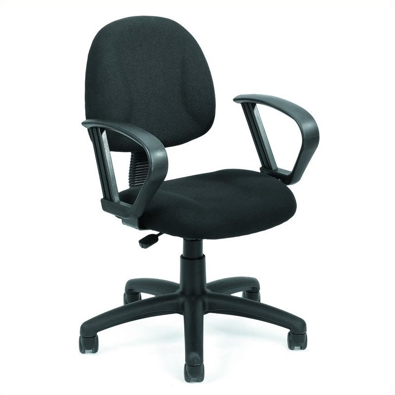 Boss Office Products Deluxe Posture Office Chair with Loop Arms-Black - image 6 de 6