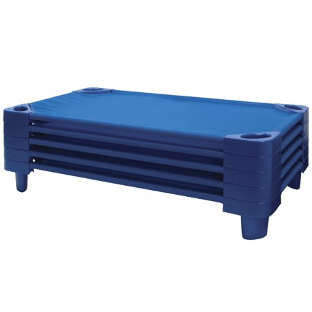 Stackable Cot - ECR4KIDS Toddler Stackable Kiddie Cot, 40 x 23 x 6 in, Set of 5