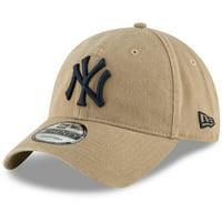 New York Yankees New Era Core Classic Secondary 9TWENTY Adjustable Hat - Khaki - OSFA
