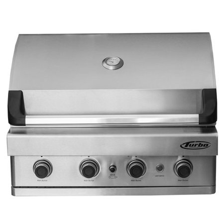 Barbeques Galore Turbo 4-Burner 32'' Built-In Gas Grill