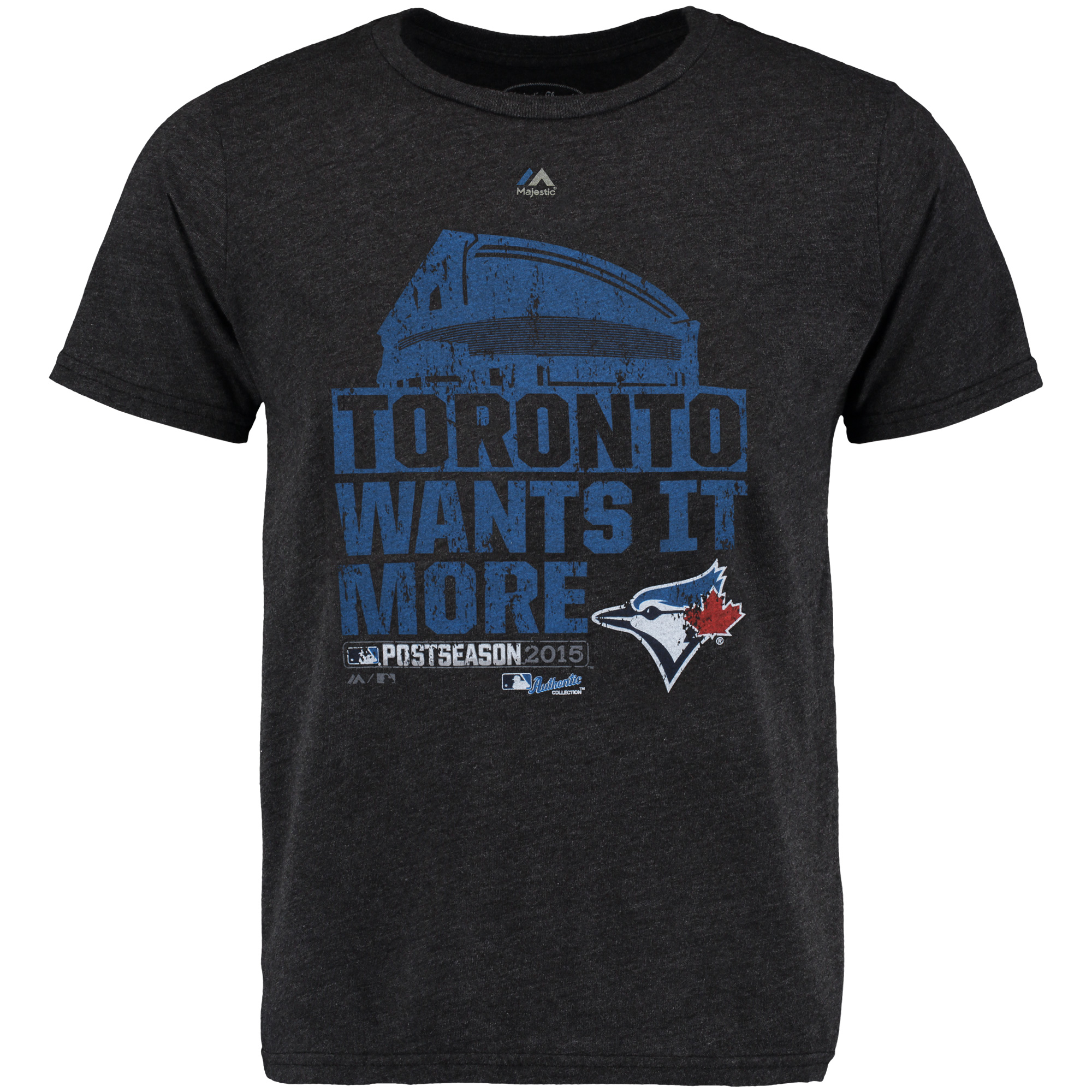 Toronto Blue Jays Majestic Threads 2015 Division Series Winner Clubhouse Tri-Blend T-Shirt - Black