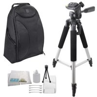 "Professional Shockproof Weather Resistant Backpack + 57"" Tripod For The Canon EOS SL1, 70D, 60D, T6s, T6i, T5i, T4i, XS, XSi, XT, XTi, T1i, T2i, T3, T3i, 20D, 30D, 40D, 50D, 7D, 7D Mark II, 6D, 5"