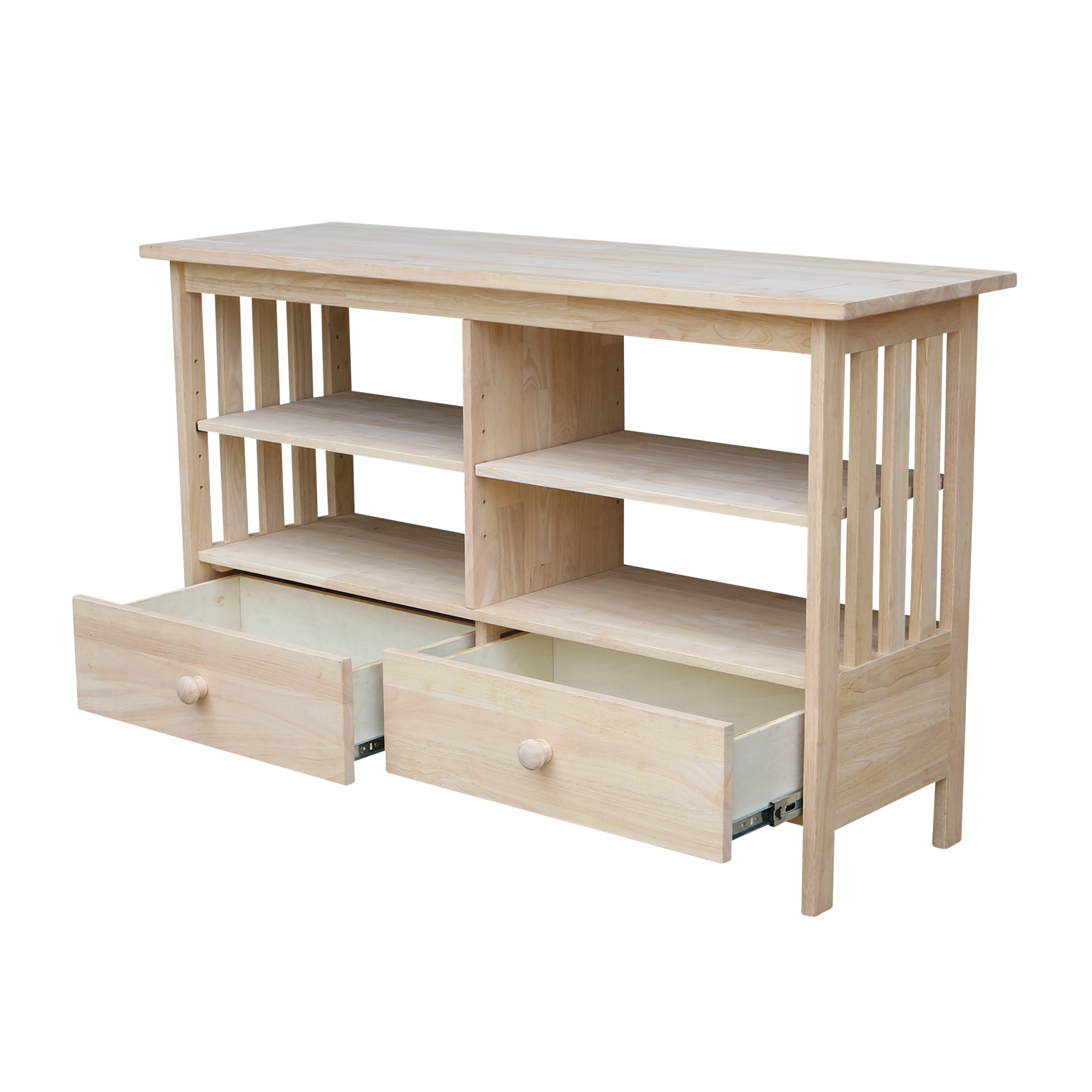 """International Concepts Mission 36/"""" 3 Shelf Bookcase in Unfinished"""
