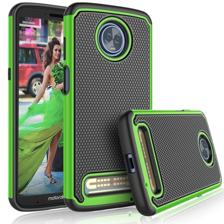 competitive price f4af0 71cb1 Moto Z3 Play Case, Motorola Z3 Play Cute Case, Tekcoo [Tmajor] Shock  Absorbing [Green] Rubber Silicone & Plastic Scratch Resistant Bumper Grip  Sturdy ...