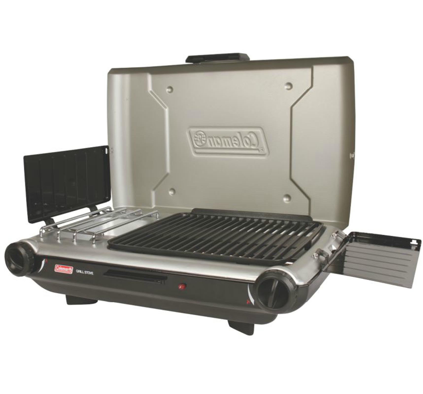 Coleman Portable Camping 2-Burner PerfectFlow Instastart Propane Grill Stove by