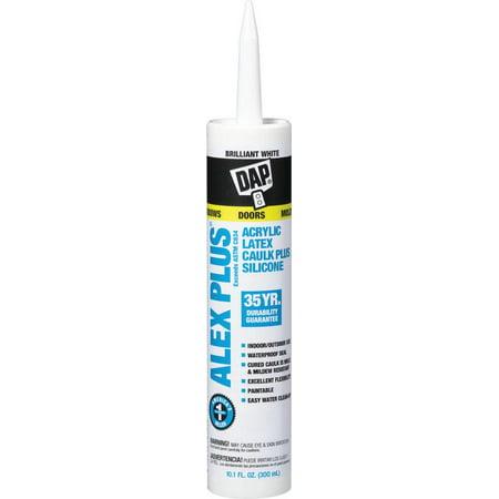 Dap 18172 10.1 Oz Ant White Alex Plus® Acrylic Latex Caulk Plus Silicone Tile Acrylic Caulk
