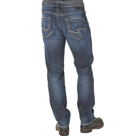 Relaxed Tapered (silver men's eddie relaxed fit tapered leg jeans - m42995ras454 )