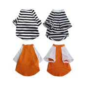2-Pack Pretty Pet Apparel with Sleeves, XX-Small
