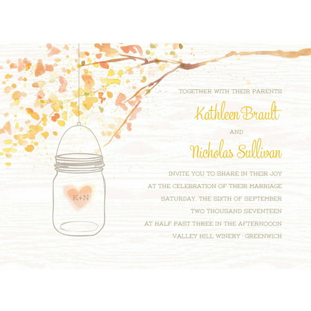 Country Wedding Invitations (Jar of Love Standard Wedding Invitation )