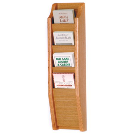 4-Pocket Wall-Mount Brochure Rack