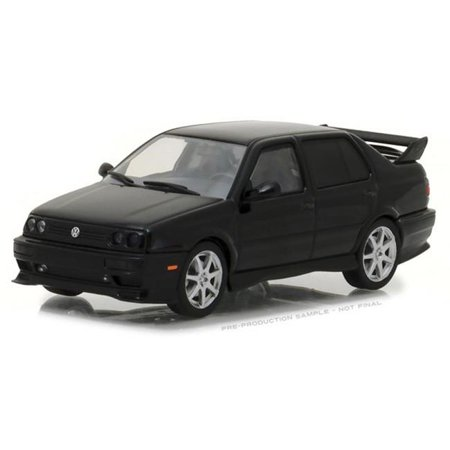 1995 Volkswagen Jetta A3 in Black Authentic Decoration Real Rubber Tire Car Toys, 14 Years