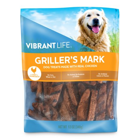 Vibrant Life Griller's Mark Dog Treats with Real Chicken, 12 oz](Chicken Life)