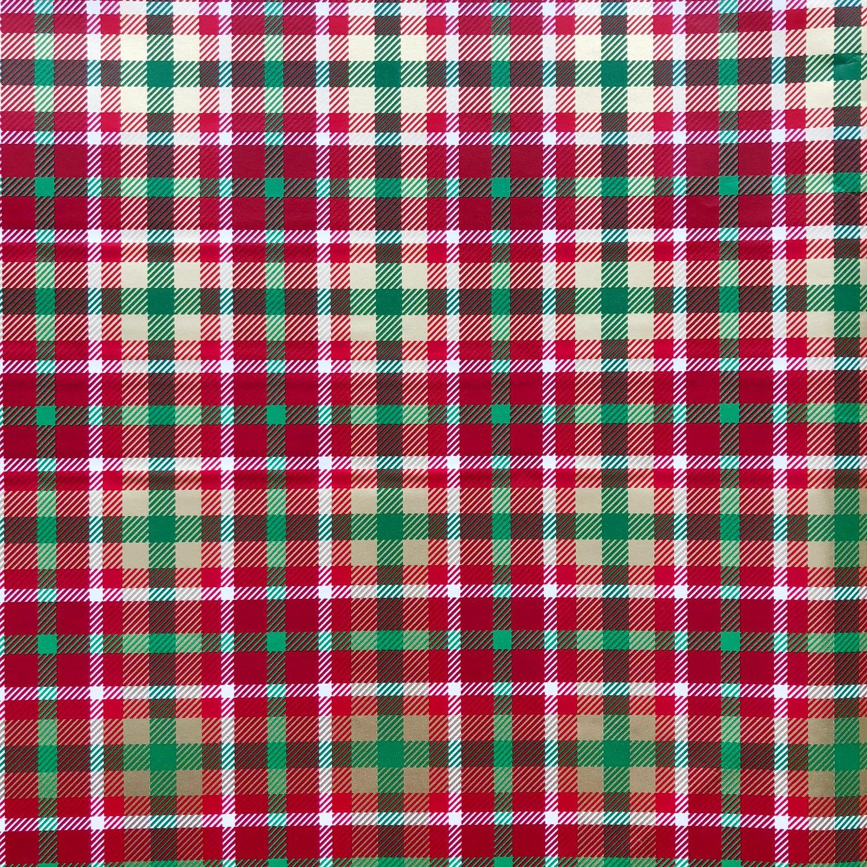 Jillson & Roberts Gift Wrap, Christmas Plaid (6 Jumbo Rolls 10ft x 30in)