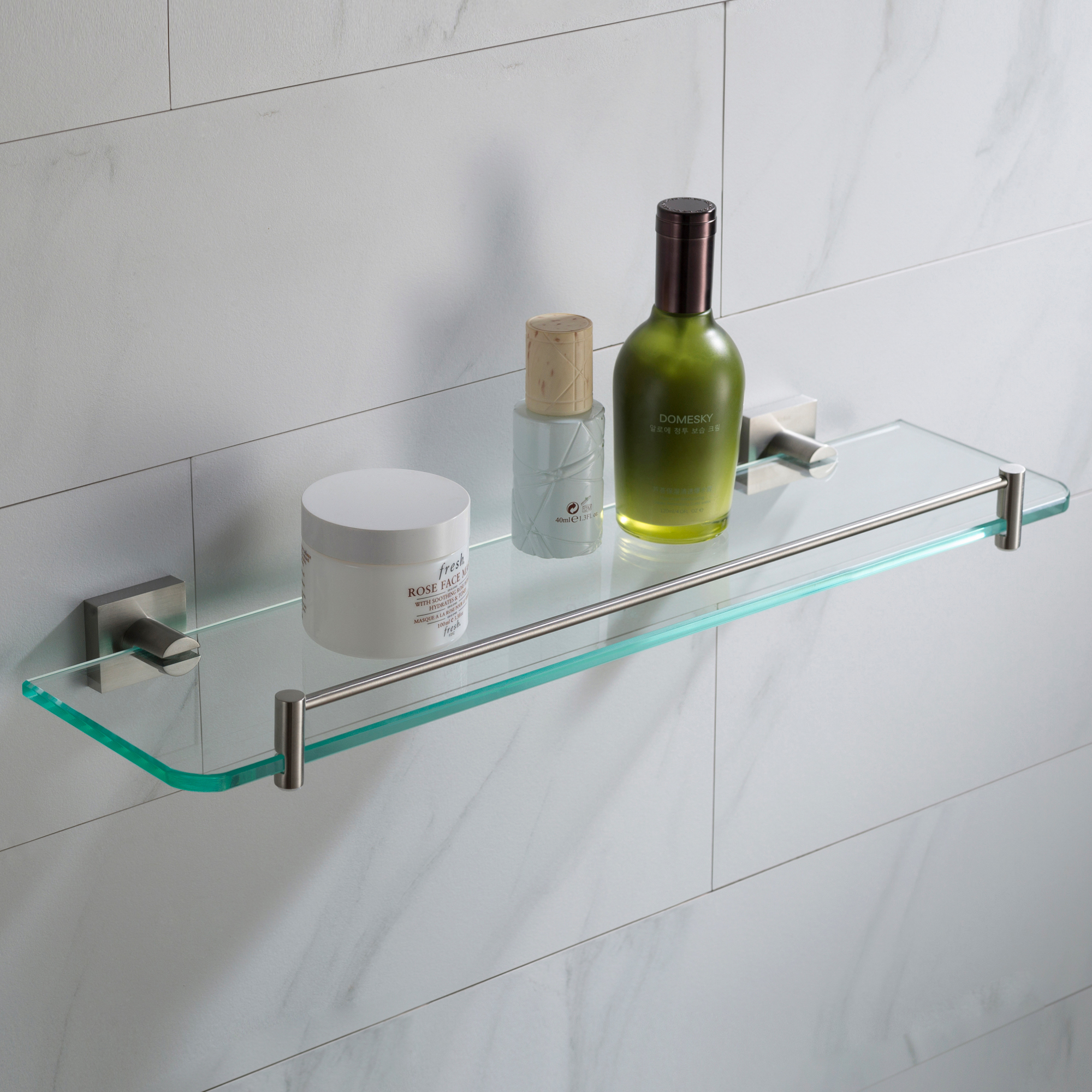 Kraus Ventus Bathroom Shelf Brushed Nickel Finish Walmart Com
