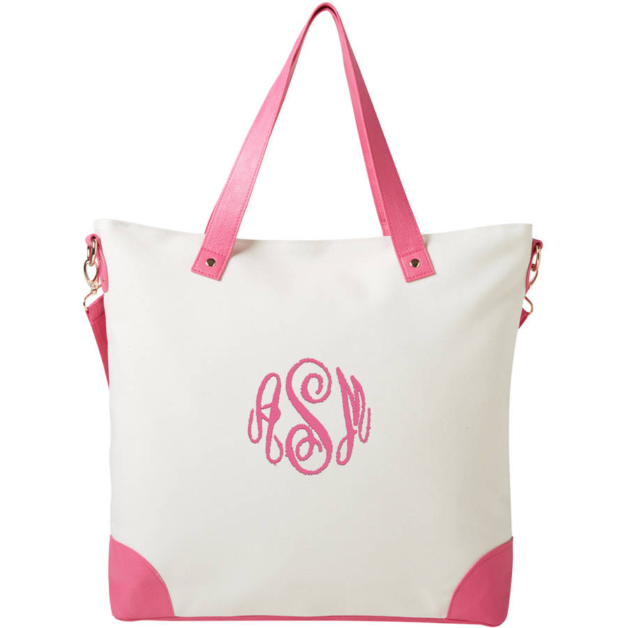 Personalized Or Monogram Canvas Tote, Available In Different Font's