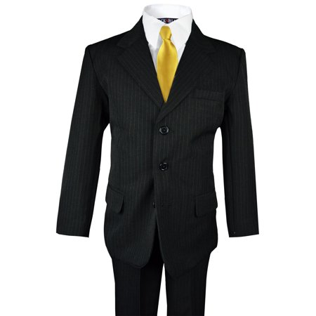 Boys Pinstripe Suit with Matching Tie Size 2-20 (Pinstripe Suit Blazer)