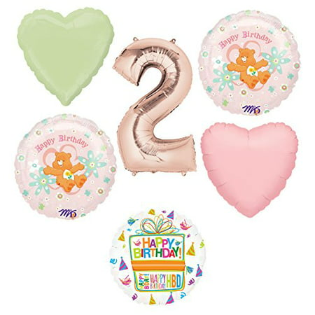 Care Bears Party Supplies and 2nd Birthday Balloon Bouquet - Bear Balloon