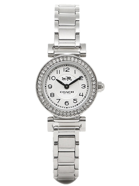 COACH Women's Madison Fashion 23mm Bracelet Watch White/Stainless Steel Watch