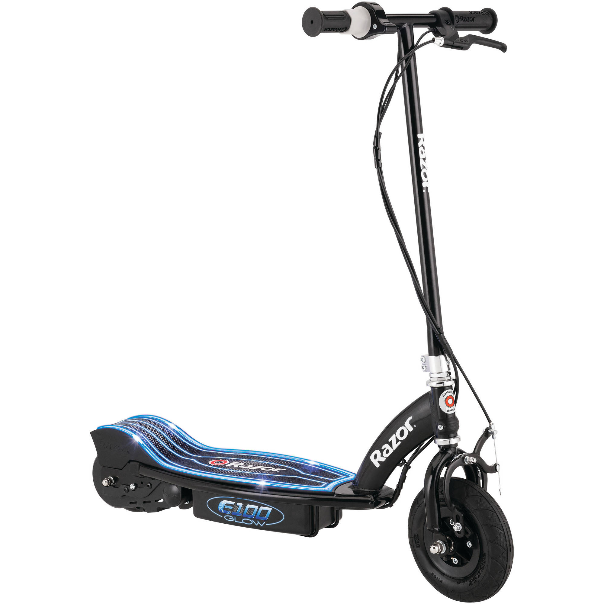 Razor E100 Electric-Powered Glow Electric Scooter, Black