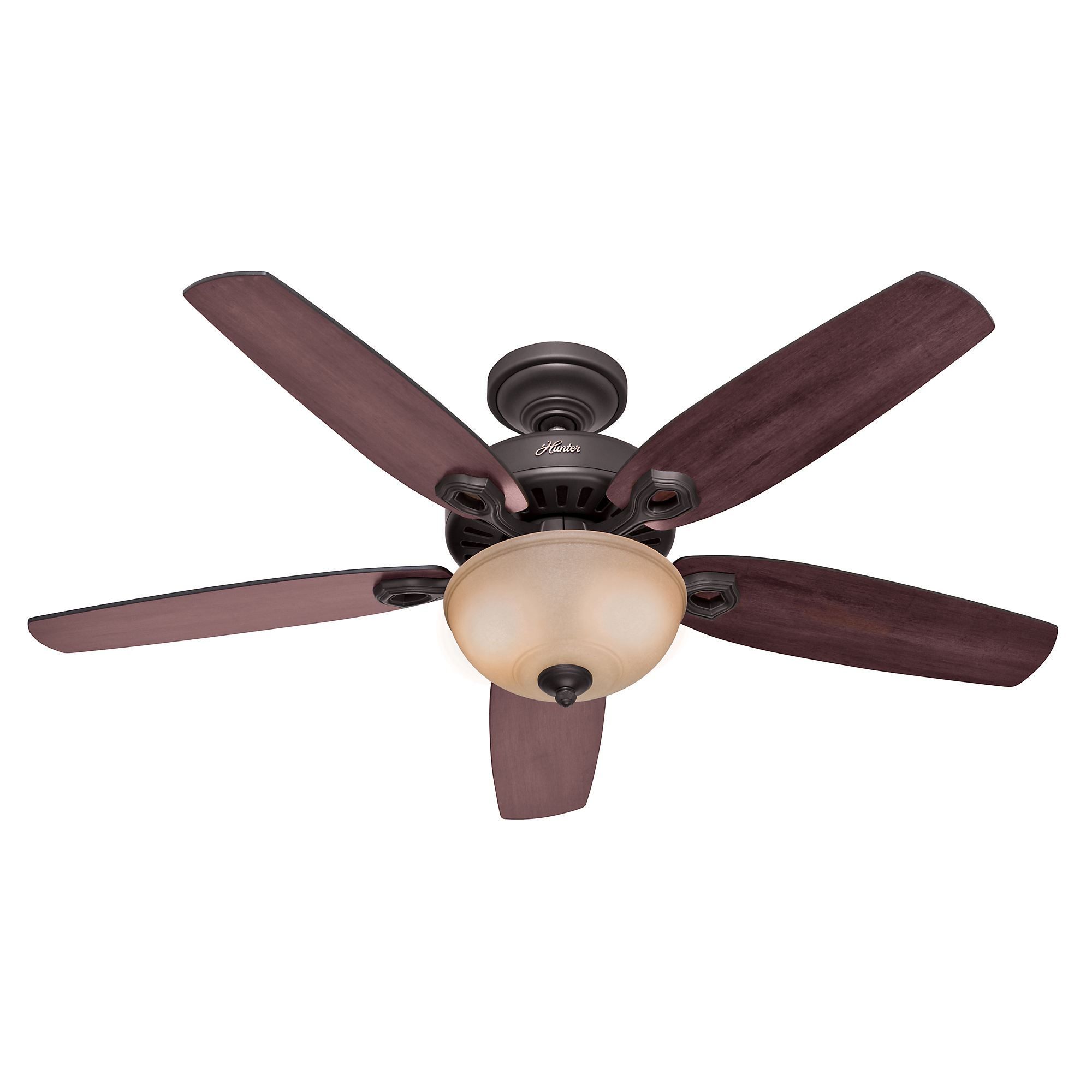 "Hunter 53091 52"" Bronze Builder Deluxe Ceiling Fan"