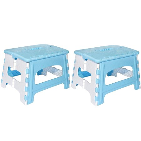 Green Direct Folding Step Stool for Kids and Adult for Bedside and Kitchen and Bathroom use, Holds up to 300 Lbs, Blue, Pack of